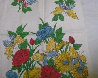 1950s PRINT KITCHEN Dish Towel - Retro Flowers