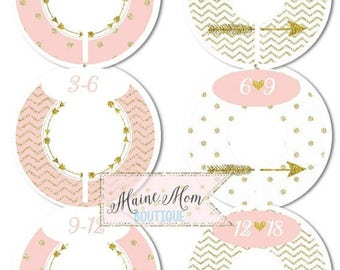 FULLY ASSEMBLED Closet Dividers Organizers Baby Girl Shower Gift Nursery Decor Pink Blush Gold Arrow Heart  Chevron Dots Tribal Baby Clothe