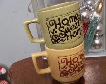 home sweet home mugs stacking