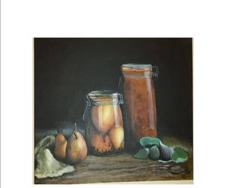 Fruit Jars and Figs an Original Painting by CS Carson