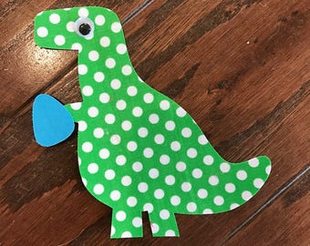 Easter Dinosaur Iron On Applique, You Choose Fabric
