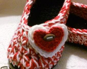 Women's Crochet Team Slippers   Team Colors Crochet Slippers   Hand Crochet Slippers   House Shoes   Crochet Booties   Slippers