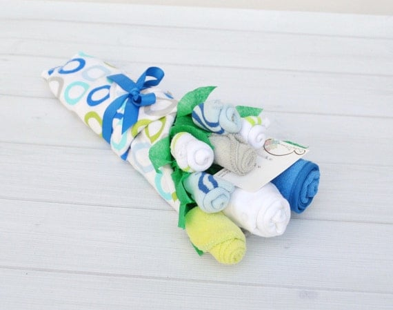 Boy Baby Gift Set, Baby Shower Gift, Baby Boy Gift, Flowers for New Mom, Cute Newborn Clothes, New Baby Basket, Nephew Baby Gift