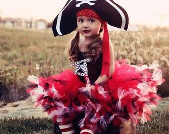 25% off storewide sale Pretty Little Pirate Tutu Dress, Hat, and Legwarmers
