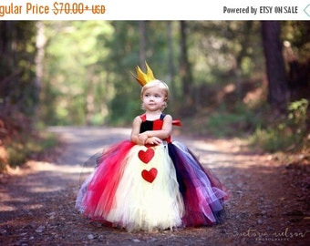 25% off storewide sale Queen of Hearts Tutu Dress and Crown