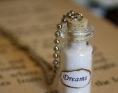 SALE Glass Vial Necklace - Dreams - Bottled Dreams