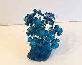 Vintage Colorflo Resin Flower Sculpture in Beautiful Blue - RESERVED for HOWYOUVEGROWN