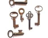 6 Vintage skeleton keys Rusty early skeleton keys Early antique keys Skelton keys Nice old keys Rustic skeleton keys Old keys bit key #10A