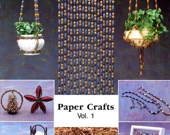 Craft Beader Paper Bead Projects Room Divider Curtain Star Ornament Plant Hanger Cattails Doll Bed Miniature Bureau Craft Pattern Leaflet