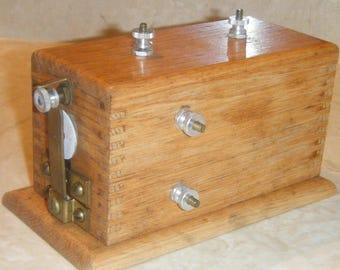 Vintage Oak Pontiac Coil Sargent Welch Scientific Company