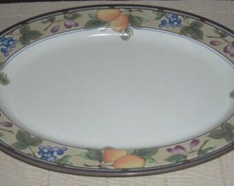Mikasa Garden Harvest Oval Serving Meat Platter 15 x 11 3/4