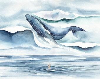 Awoke from a Dream Watercolour 11x14 Print