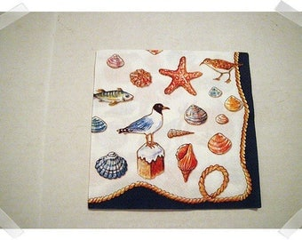 Paper Napkin for Decoupage / Nautical Theme/ Single OR Set of 3*/ Craft Supplies**