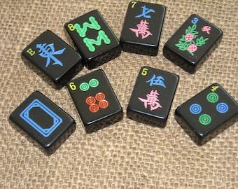 Black Mahjong Tiles - Mah jong Tiles for Crafts - Oriental Craft Supplies