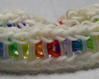 Hidden Rainbow Chain Bracelet