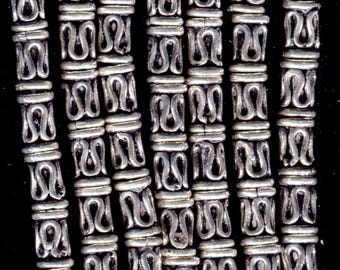 Bali Sterling Silver Tube Beads- 5 Designs Vintage SS232.SS233.SS234.SS237.SS240L*