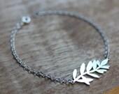 Silver Bracelet - Silver Lavender Bracelet - Sterling silver