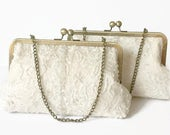 BRIDES HEIRLOOM CLUTCH, Keepsake, made from Moms wedding dress, Use moms dress to make a family heirloom