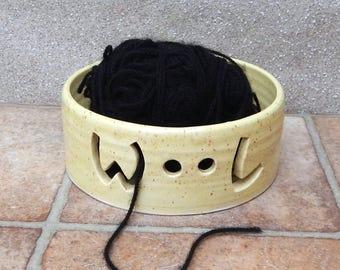 Yarn bowl knitting or crochet wool handthrown pottery ceramic handmade wheel thrown
