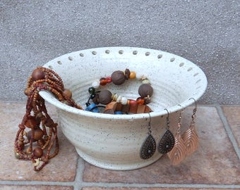 Jewellery earring bowl for organising and displaying your jewelry wheel thrown pottery handthrown handmade
