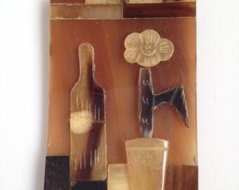 Vintage Hand Cut Celluloid Pendant