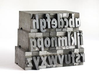 THE ALPHABET - 36pt Metal Letterpress (Spartan Black Condensed Italic)