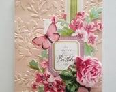 "Handmade Birthday Day Card - 5"" x 6.5"" -Anna Griffin greeting card"