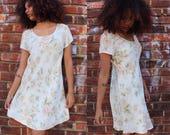 Vintage 90's Floral A-Line Dress