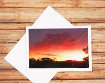 Australian Sunset Greeting Card 4x6' with envelope - Greeting Card - Photo card - Thank you card