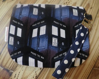 Call Box Wristlet, stadium purse, wristlet purse, geeky purse *Ready to Ship*