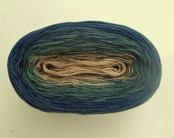 GENEVA  Color Changing Cotton yarn  480 yards/100 gr  Fingering Weight