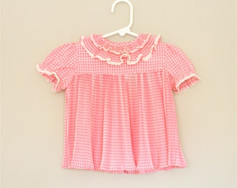 Pink Gingham Baby Dress- 9-12 months