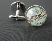 Personalised Cufflinks for Suzanne - Barga, Tuscany and Hereford, UK