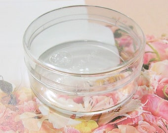 2-inches-Round Boxes - Clear Plastic - 6pcs