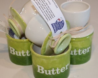 Butter Bell. Butter Crock. Butter Holder. Butter. Kitchen. Gourmet. Serving. Green. Unique. Handmade. Ceramic. French. French Butter Bell