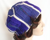 Women's Purple Hat Knit Module Hat Woman's Purple Knit Hat Purple Winter Hat Women's Hat Women's Winter Knit Hat -- RESERVED for Diana C