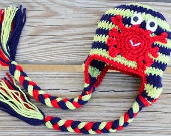Crochet Pattern. Crochet Crab Hat Pattern. Baby Crochet Hat Pattern. Photo Prop Hat Pattern
