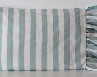 Pillow Case - Shabby and Chic - blue stripes - Cottage - Standard pillow case