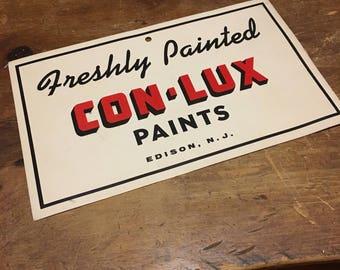 Vintage Con-Lux Paint Sign. Conlux Advertisement.