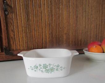 Callaway Ivy Corning Ware Casserole - 1.5 L Casserole Dish - Green Ivy Pattern - Discontinued Pattern - Vintage CorningWare Cookware