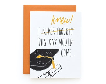 Knew This Day - letterpress card