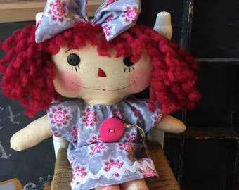 Raggedy Annie -Pinky-ragdoll