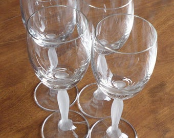 Mikasa Ballet Stemware Water glasses Frosted Stem - Set of 4