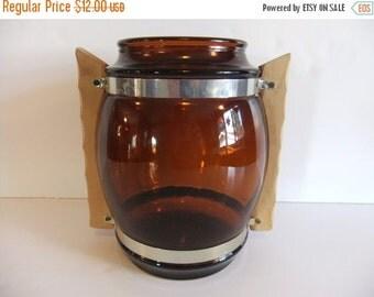Christmas Sale Brown Cookie Jar, Siestaware Cookie Jar, Wood Handles, Kitchen, Home Decor, Retro,