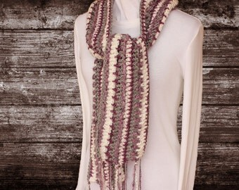 Crochet Scarf Pattern, Creative and Colorful Scarf Design, Easy Crochet Scarf Pattern using Various Yarns, Crochet Pattern for Scarf