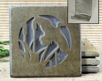 Etched Natural Stone Coaster Set with Holder - Duck on Buff Slate