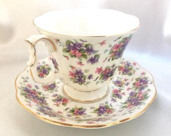 Vintage Royal Albert Richmond bone china tea cup and saucer