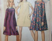 Vintage 60s Tent Dress Pattern 34 bust Simplicity 7203