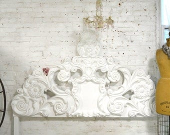 Painted Cottage Chic Shabby French Full / Double Vintage Romantic Bed BD763