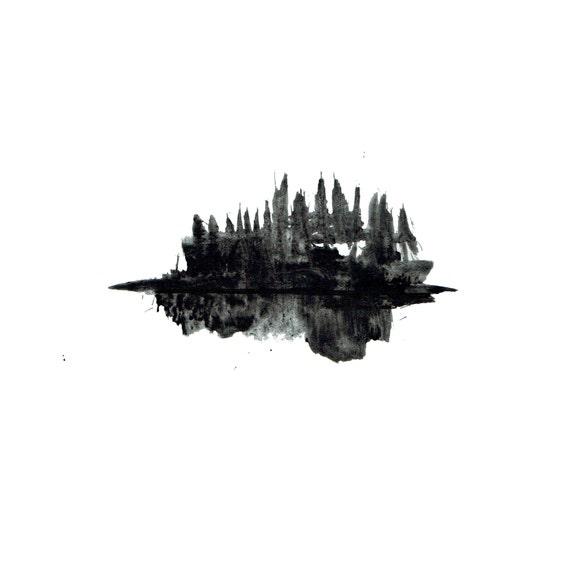 minimalist watercolor print: slayer